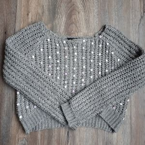 Sweaters - Unique Sequin Cropped Knit